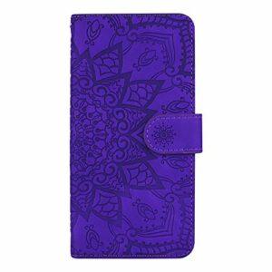 Coque pour Galaxy A01 Protection Housse en Cuir PU Pochette,[Emplacements Cartes],[Fonction Support],[Languette Magnétique] pour Samsung Galaxy A01 – DEHF010084 Violet