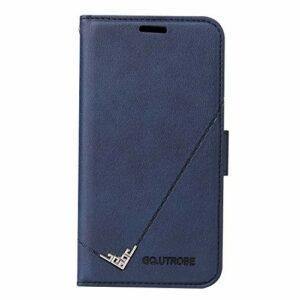 Coque pour Galaxy A12 Housse, Etui en Cuir PU Portefeuille Coque avec Fente Carte, Fermeture Magnétique und Flip Béquille pour Samsung Galaxy A12 – JEYTB010126 Bleu