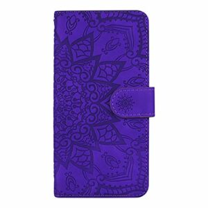 Coque pour Galaxy S9 Antichoc étui Rabat Cuir Case Portefeuille TPU Gel Bumper Silicone Wallet Cover Aimant Housse pour Samsung Galaxy S9/G960F – ZIHF010360 Violet