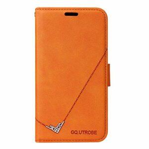 Coque pour iPhone 8 Plus/7 Plus Antichoc étui Rabat Cuir Case Portefeuille TPU Gel Bumper Silicone Wallet Cover Aimant Housse pour Apple iPhone 8Plus/7Plus – ZIYTB010025 Orange