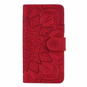 Coque pour Xiaomi Redmi 6Pro / Mi A2 Lite Protection Housse en Cuir PU Pochette,[Emplacements Cartes],[Fonction Support],[Languette Magnétique] pour Xiaomi Redmi 6 Pro – DEHF010687 Rouge