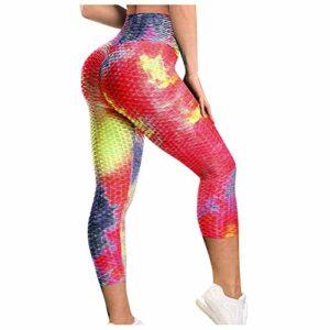 Dasongff Legging pour femme, pantalon de sport, pantalon de fitness, pantalon de course, pantalon de yoga, pantalon 3/4, pantalon de loisirs, dégradé de couleurs, sport, yoga, jogging.