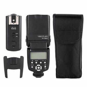 DAUERHAFT 100m caméra à Transmission Rapide Speedlite caméra Flash Esclave Sauvegarde Automatique réglage Flash de la caméra Durable, caméra