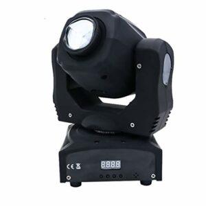 Éclairage de Scène LED Lampe, 7 Couleur Lumière Fête 10W, RGBW DMX512 Commande Vocale Tête rotative Lumière, effet d'éclairage sur place pour la barre d'événement de la fête