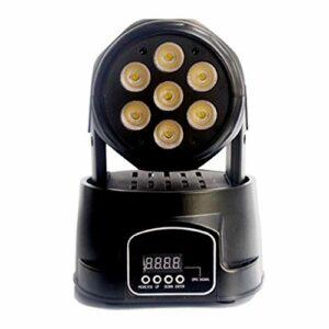 Éclairage De Scène LED Lampe, 70W Stage Lumière, RGBW DMX512 Commande Vocale Tête Rotative Lumière, Salon De La Fête D'anniversaire Éclairage De Danse De Mariage Avec Télécommande