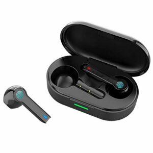 Écouteur sans fil Bluetooth 5.0, casque stéréo intra-auriculaire, prise en charge du contrôle tactile, avec mini boîtier de charge grande capacité, câble de charge et manuel, pour le sport, l'entraîne