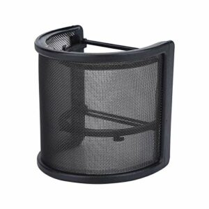 Filtre anti-pop, maille métallique et mousse et couche d'étamine Housse de pare-brise pour microphone, masque de micro portable Accessoires de microphone pour costume d'enregistrement vocal pour vidéo