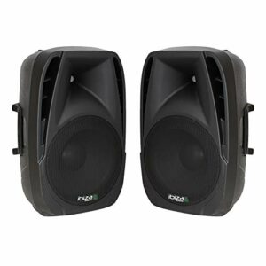 Ibiza BT10A Lot de 2 haut-parleurs actifs Bluetooth DJ Disco 10″ 500 W