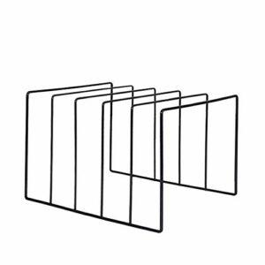 KERDEJAR Professionnel Noir métal LP Vinyle Disque présentoir Plateau tournant Collection de disques étagère de Rangement Support de Support d'exposition