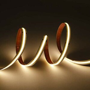 Kingled – Ruban LED professionnel 5 m lumière chaude 3000 K 75 W 24 V avec technologie COB haute performance
