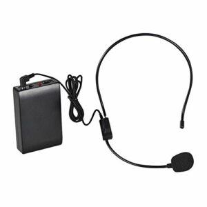 LDDZB Microphone FM sans fil portable avec amplificateur de voix de 6,35 mm de sortie avec émetteur récepteur pour professeur, professeur, professeur, présentateur, conférence, discours, son HD Quali