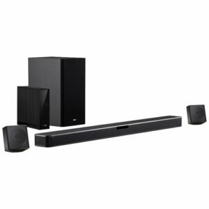 LG SN4R Barre de Son 4.1 (420W de Puissance, DTS Virtual:X, subwoofer sans Fil, Multi Bluetooth 4.0, HDMI, USB, entrée Optique)