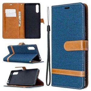 LODROC Coque Sony Xperia L4 Coque,Housse en Cuir Premium Flip Case Portefeuille Etui avec Stand Support et Carte Slot pour Sony Xperia L4 – LOBFE0301067 Bleu