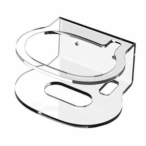 MagiDeal Acrylique Clear Case pour Nid Audio, Support Mural Haut-Parleur Stand Stable Garde Titulaire, utilisé pour Nid Audio Haut-Parleur À Puce