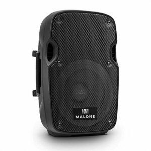 Malone PW-2908A Enceinte Active de sonorisation (subwoofer de 20cm, poignée de Transport, entrée Micro, EQ 2 Bandes Basses et aigus, Chassis ABS, Puissance 150W RMS)
