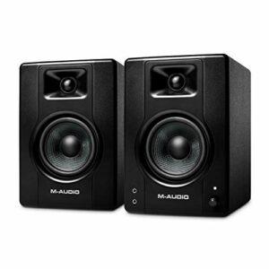 M-Audio BX4 – Enceinte de Bureau / de Monitoring Active 120 W pour Gaming, la Production Musicale, le Streaming et le Podcast (Paire)