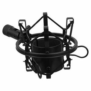 MILISTEN Microphone Montage pour 46Mm Diamètre Micro À Condensateur Métal Anti Vibration Support Noir