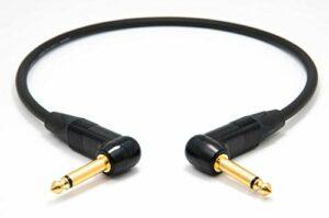 Mogami 2524 Câble Patch pour effets | Neutrik Gold 6,3mm jack TS mono coudée | HiFi – 70 cm
