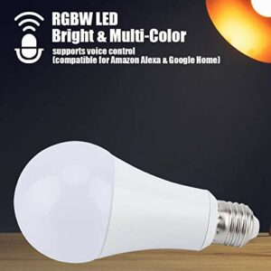 Omabeta Ampoule RVB-CW Compatible avec la lumière Multicolore RVB-CW E27 Bureau de Salle de lumière RVB-CW pour la Maison(RGB-CW, 11W)