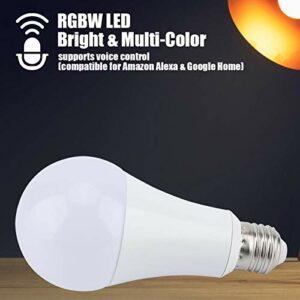Omabeta Matériel de Bonne qualité E27 RGB-CW Light RGB-CW Multi Color Light RGB-CW Ampoule pour la Maison(RGB-CW, 11W)