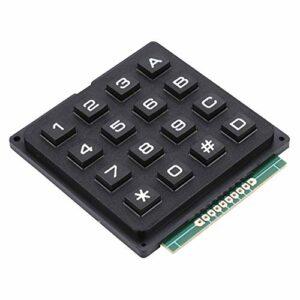 Pusokei Modules de Clavier 16 Touches, Boutons poussoirs 4×4 entrée de données de Clavier de Clavier Externe pour MCU pour microcontrôleur à Puce Unique
