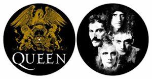 Queen 'Crest et visages' de Turntable slipmat