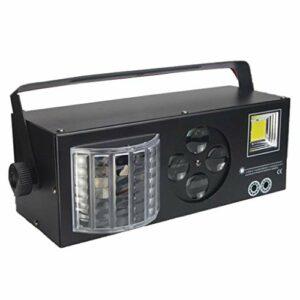 RGB 4 en 1 Lampe de Scène, RGBW disco eclairage soiree, Vocale commande/Contrôle automatique/Réglage de la vitesse/Flash stroboscopique/DMX 512, contrôlé par télécommande