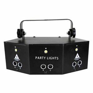 RVB DJ Lampe De Scène, Mini Lumières De Discothèque, LED Commande Vocale Lampes Stroboscopes, Pour Fêtes D'anniversaire Mariage Barre Danse Des Décorations Halloween Lumière