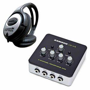 Samson QH4 Amplificateur de casque 4 canaux + casque Keepdrum