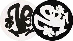 Slipmat-Factory Lot de 2 slipmat-factory en plastique Noir/blanc