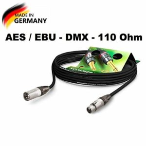 Sommer Cable AES/EBU – DMX512 110 Ohms SC-Binary 234 MKII XLR male 3 points Neutrik NC3MXX / XLR femelle 3 points Neutrik NC3FXX, Noir (10m)