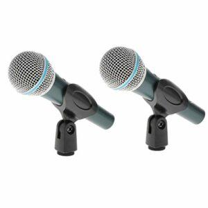 T TOOYFUL 2 X Microphone Super Cardioïde Microphone Filaire Vocal Dynamique Mic Professional