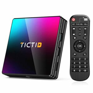 TICTID Android 10.0 TV Box, TICTID Android Box 4GB RAM 64GB ROM T8 Pro Android TV Box Media Player RK3318 Quad Core 3D 4K H.265 WiFi 2.4G/5G Smart Android Box