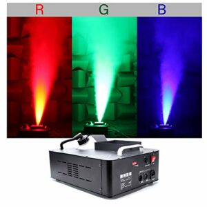 UKing 1500W Machine à Fumée avec 3 RGB Lumières Contrôlables en Couleur,Machine à Brouillard avec Télécommande et Réservoir 2.5L pour Mariage, Fête, Théâtre