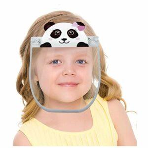 Visière de protection BIBOKAOKE – En plastique transparent – Pour enfant – Lavable – Avec dessin animé imprimé – Pour garçon et fille