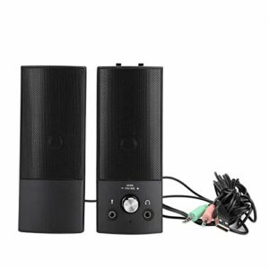 Volume haut-parleur de bureau réglable Bass Subwoofer Son tridimensionnel Haut-parleur audio d'ordinateur pour ordinateur portable