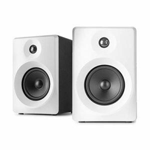 VONYX SMN30W Enceintes Monitoring – Paire d'enceintes de Studio 3″, Puissance 60 Watts Max, Réglages Graves et aigus, Qualité idéale pour Mastering en Studio