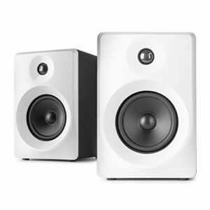VONYX SMN50W Enceintes Monitoring – Paire d'enceintes de Studio 5″, Puissance 140 Watts Max, Réglages Graves et aigus, Qualité idéale pour Mastering en Studio