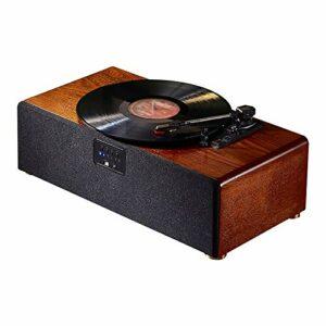yaunli Phonographe PHONOGRAPHIQUE Rétro Player D'enregistrement De Vinyle Portable Player D'enregistrement Multifonctions Portable Gramophone Vintage (Couleur : Marron, Size : 52x27x16cm)