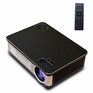 YEYOUCAI Projecteur LED A76 5,8 Pouces Panneau d'affichage LCD Simple 1280x768P projecteur Intelligent avec télécommande, Android 6.0, Prise en Charge AV/VGA/HDMI / USBX2 / Carte SD/Audio
