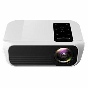YEYOUCAI Projecteur LED Mini projecteur LED Full HD de Bureau à Domicile Portable T8 1920×1080 avec télécommande, Haut-Parleur intégré, Prise en Charge USB/HDMI/AV/IR, même Version d'écran