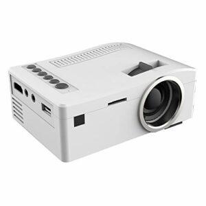 YEYOUCAI Projecteur LED Projecteur LED numérique UC18 150 Lumens HD 320 x 180 avec télécommande, Prise en Charge USB/SD/VGA/HDMI