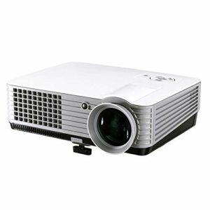 YEYOUCAI Projecteur LED RD-801 800 * 600 Projecteur LED 1800 Lumens HD Home cinéma avec télécommande, Prise en Charge USB + VGA + HDMI + AV + TV