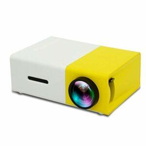 YEYOUCAI Projecteur LED YG300 400LM Mini projecteur LED de cinéma Maison Portable avec télécommande, Prise en Charge des interfaces HDMI, AV, SD, USB,
