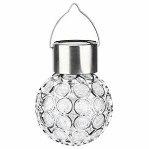 zhoul 2 pièces lumières solaires de jardin, lampe suspendue LED à changement de couleur contrôle de la lumière à boule à énergie solaire pour la décoration de pelouse de jardin extérieur