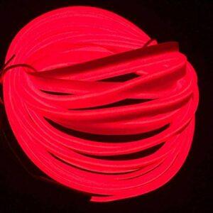 ZJJZ 1 M / 3FT, néon lumière Bricolage décoration Brillant EL Corde avec inverseur USB pour Les fêtes Costume de Cosplay de Noël (Rouge)