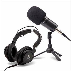 Zoom ZDM-1PMP – Kit Podcast avec microphone, casque, trépied, câble et bonnette anti-vent