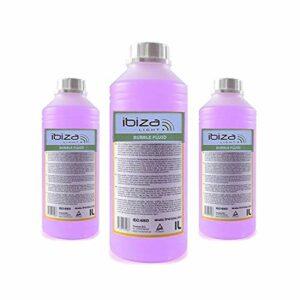3 bidons de 1 Litre de liquide IBIZA LIGHT pour machine à bulles anti-traces Non toxique