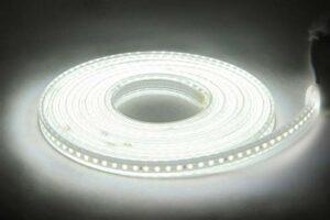 ACDES Bande LED 220V 2835 LED imperméable à l'eau avec Haute luminosité 120LD / m Cuisine Flexible Cuisine Extérieur Strip Strip Strip ACDES (Emitting Color : White, Length : 5m)