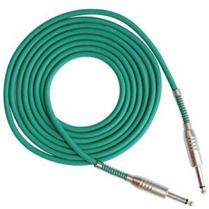 ACDES Mono guitare câble audio mâle à mâle câble câble caoutchouc cuivre 6,35mm Instrument électrique inséré 15 ACDES (Color : Green)